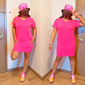 Comfy Time Tunic - Hot Pink