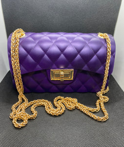 Jelly Crossbody Bag - Purple