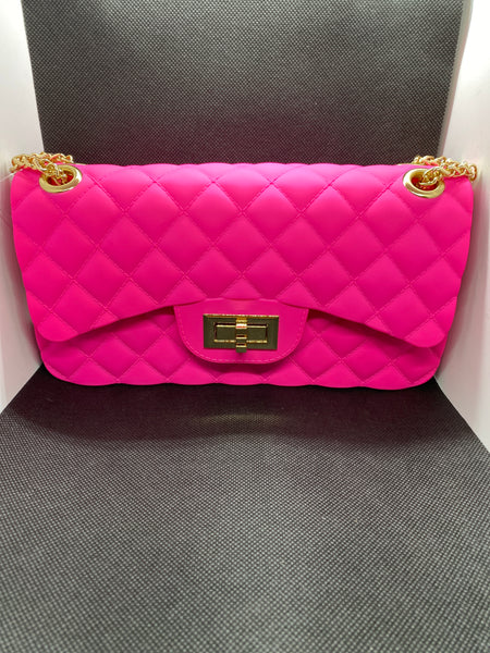 Jelly Crossbody Bag Large - Hot Pink