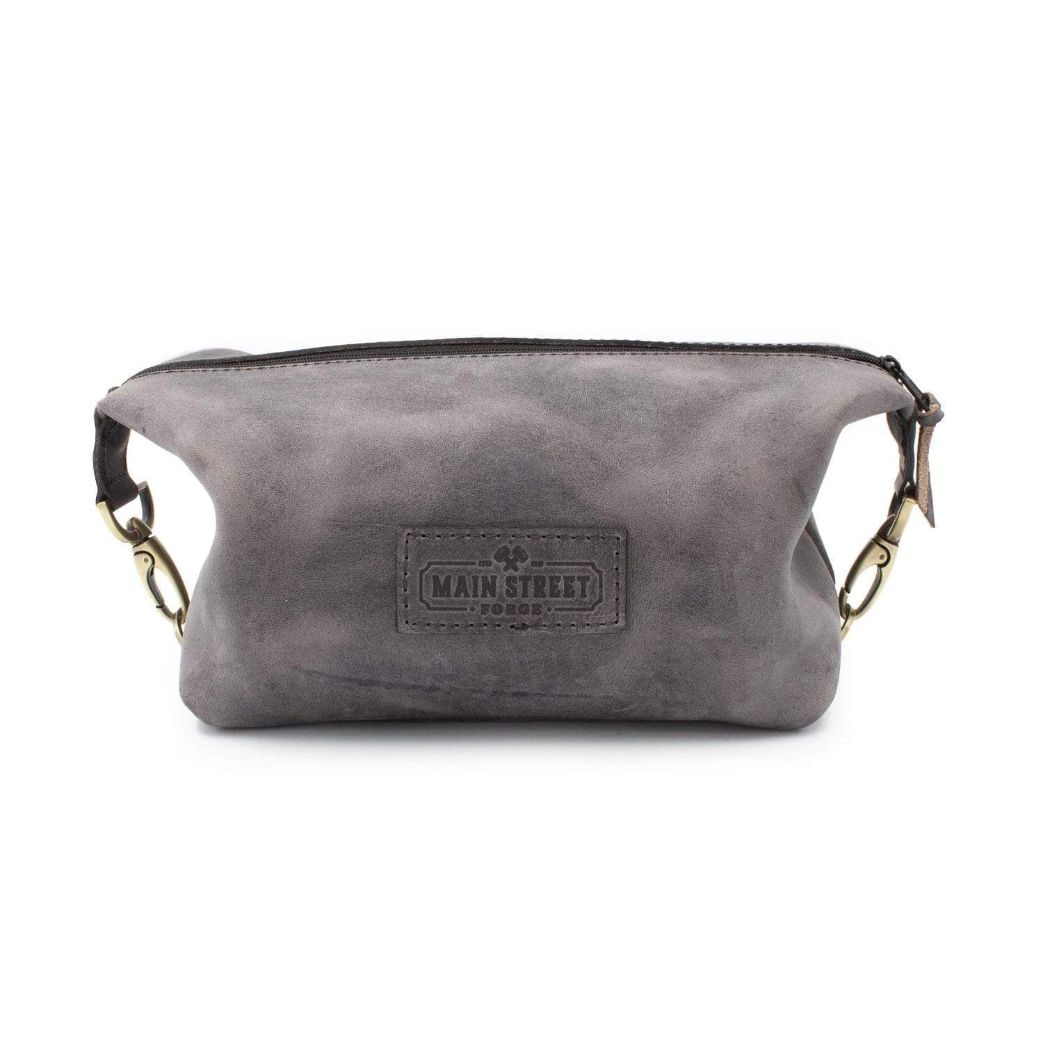 Main Street Forge Dopp Kit - Premium Full Grain Leather Toiletry Bag for Men's Grooming Essentials - Made in USA