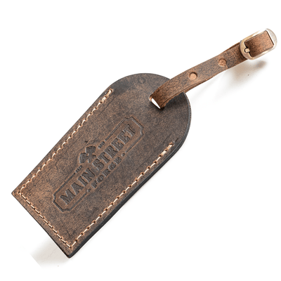 Main Street Forge Leather Luggage Tag