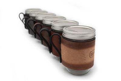 Main Street Forge Small Goods Mason Jar Wrap with Handle -  For Hot & Cold Drinks - Made in USA with Lifetime Warranty