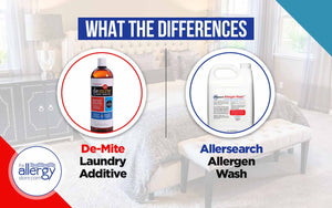 What are the Differences Between  De-Mite Laundry Additive and Allersearch Allergen Wash