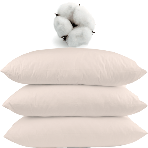 Zippered GOTS Certified Organic Cotton Pillow Covers for allergies
