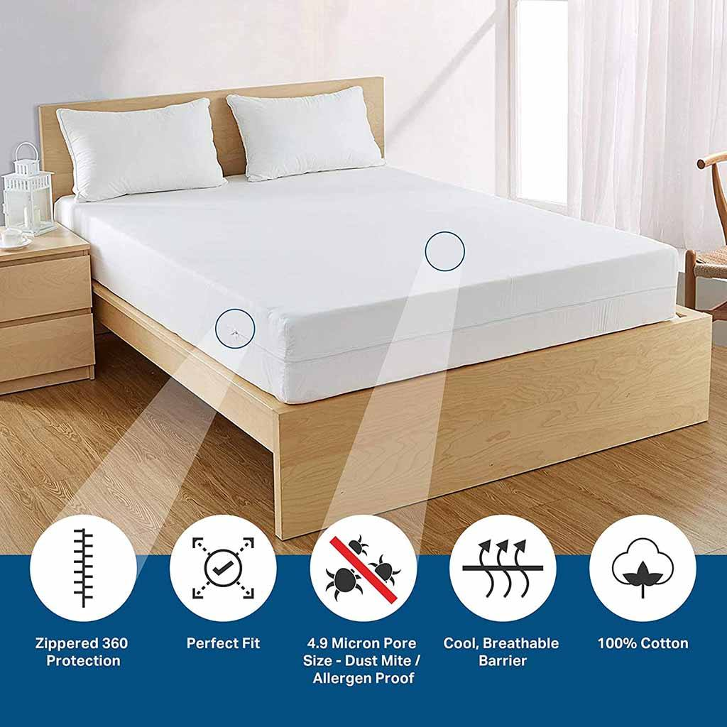 Bargoose AllergyCare 100% Cotton Mattress Protector