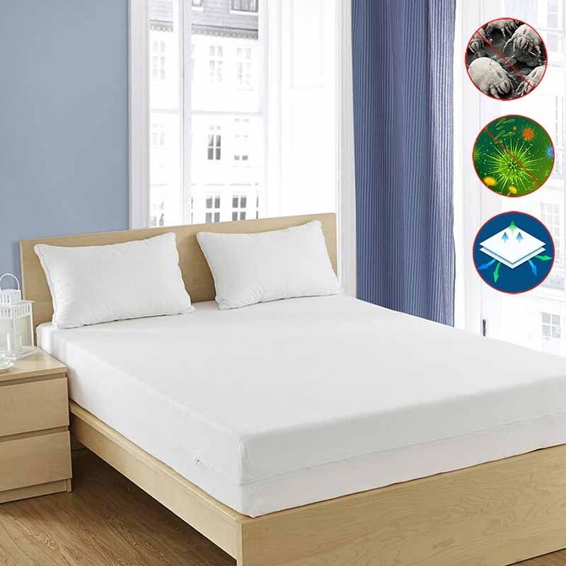 AllergyCare 100% Cotton Mattress Covers in Bedroom