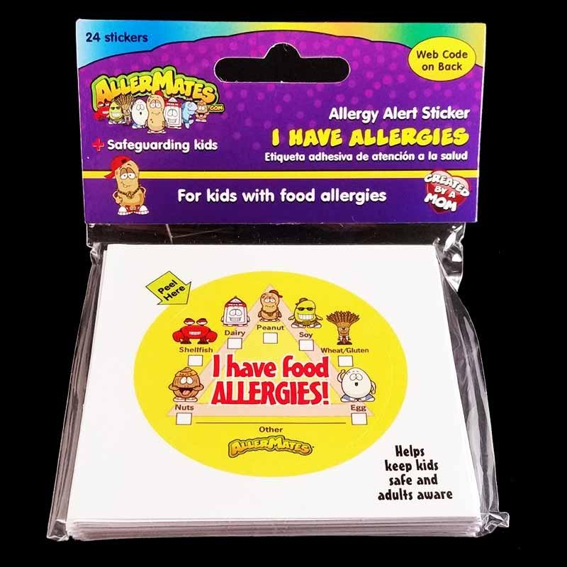 Food Allergy Stickers 24 Pack