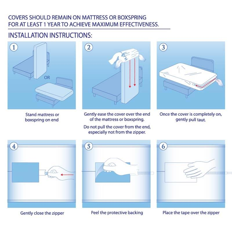 How to put on your bed bug proof mattress cover