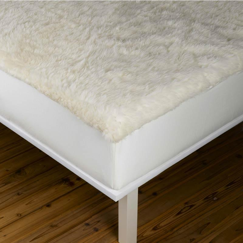 Sleep & Beyond Reversible Wool Mattress Pad - Wool Side