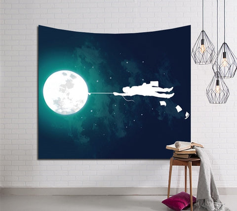 Carry Me Over The Moon Tapestry