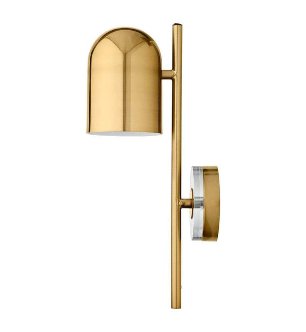AYTM Væglampe, Luceo Wall Lamp, Gold/Clear - L12xW20,5xH45 - Væglampe fra AYTM