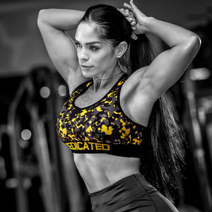 Women push up sports bra camo - Dedicated Nutrition