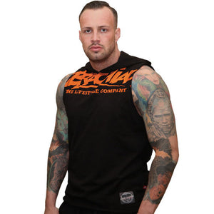 "Brachial Tank Top ""Train"" black/orange"