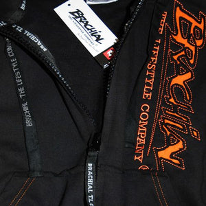 "Brachial Zip-Hoody ""Signature"" Black"