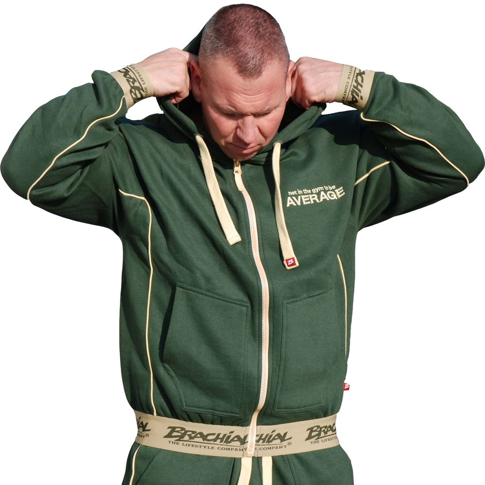 Brachial Zip-Hoody Spacy military green