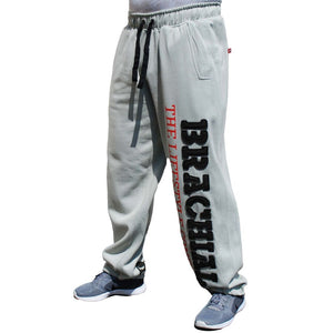 "Brachial Tracksuit Trousers ""Gym"" Lightgrey/black"