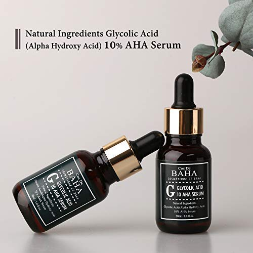 AHA Glycolic Acid 10% Serum With Witch Hazel - Whitehead Power Liquid, Acne Prone Skin
