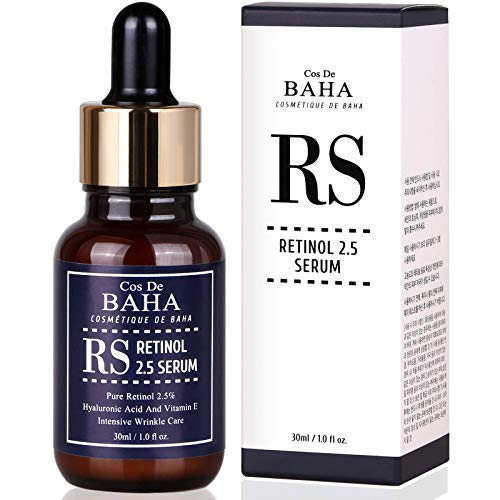 Retinol 2.5% Serum 30ml with Vitamin E - Helps Reduce Appearance of Wrinkles, Fine Lines