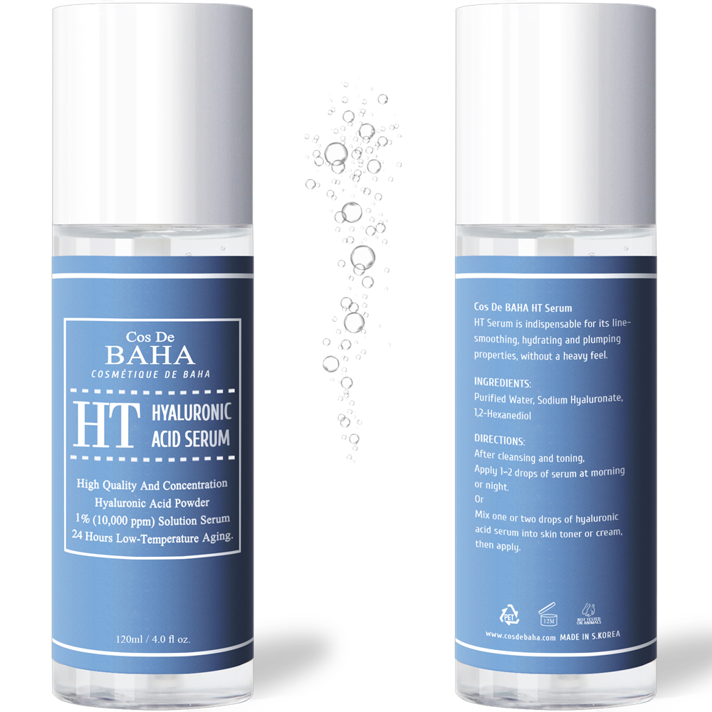 Pure Hyaluronic Acid 1% Powder Solution Serum 10000ppm - Intense Hydration + Visibly Plumped Skin