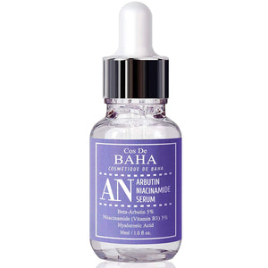 Arbutin 5% + Niacinamide 5% Serum 1oz With Hyaluronic Acid - Skin Brightening + Diminishes Acne + Treating Pigmentations + Age Spots, 1oz (30ml)