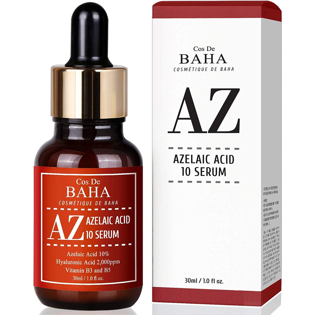 Azelaic Acid 10% Serum 30ml with Niacinamide - Acne Scar Removal + Redness Relief Face