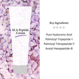 Peptide Cream for Wrinkles and Anti Aging - Daily Moisturizer with Argireline, Matrixyl 3000, Hyaluronic Acid, Niacinamide, Silicone-Free - Reduce Wrinkles + Repairs Damaged Skin, 1.5 OZ (45ml)