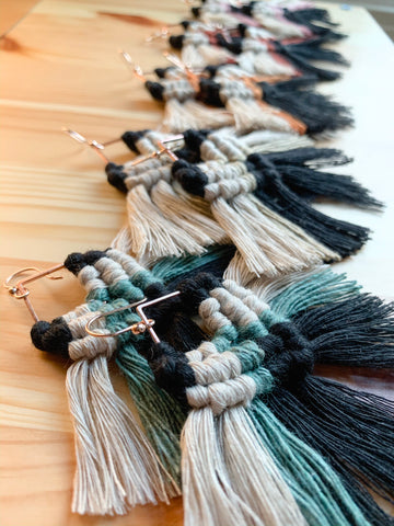 Sedona | Macramé Fringe Earrings