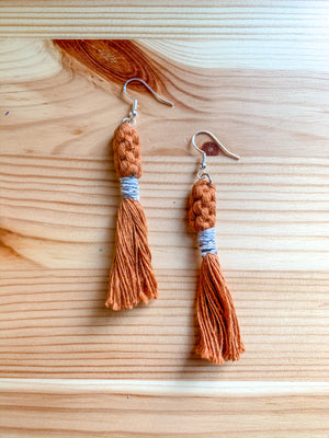 SADIE | Macramé Crown Tassel Earrings