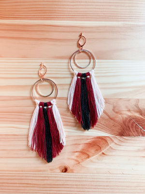ALORA | Dreamcatcher Rose Gold + Macramé Earrings