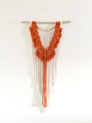 RENYA | Boho Wood + Cotton Macramé Wall Hanging