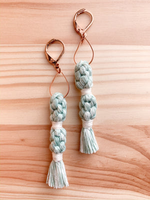 RYN | Double Crown Tassel Macramé Earrings