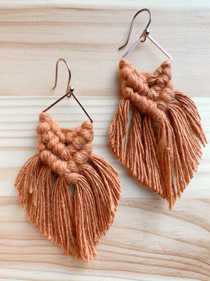 ISLA | Macramé Boho Fringe Earrings