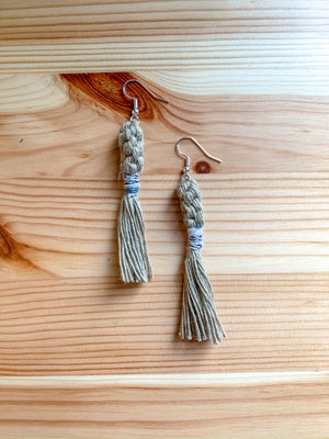 JORDAN | Macramé Tassel Earrings