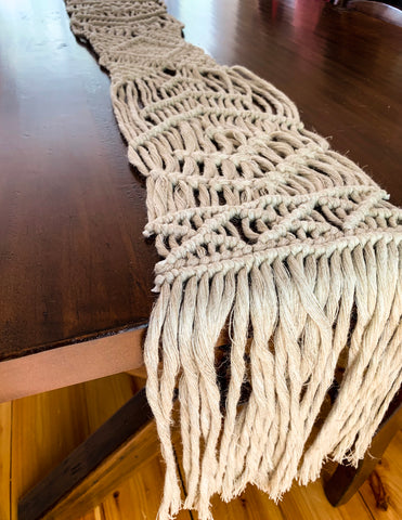Bohemian Macrame Table Runner