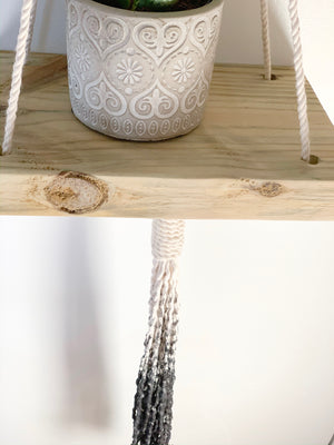 NIKO | Macramé Hanging Shelf