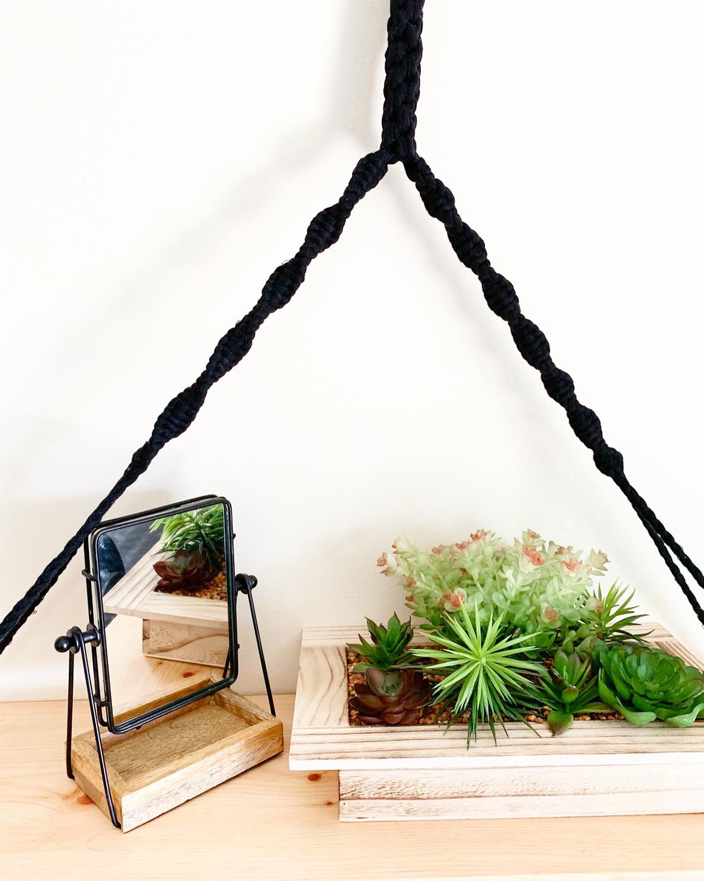 Macramé Floating Shelf