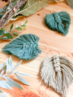 PLUME | Macramé Leaf Earrings