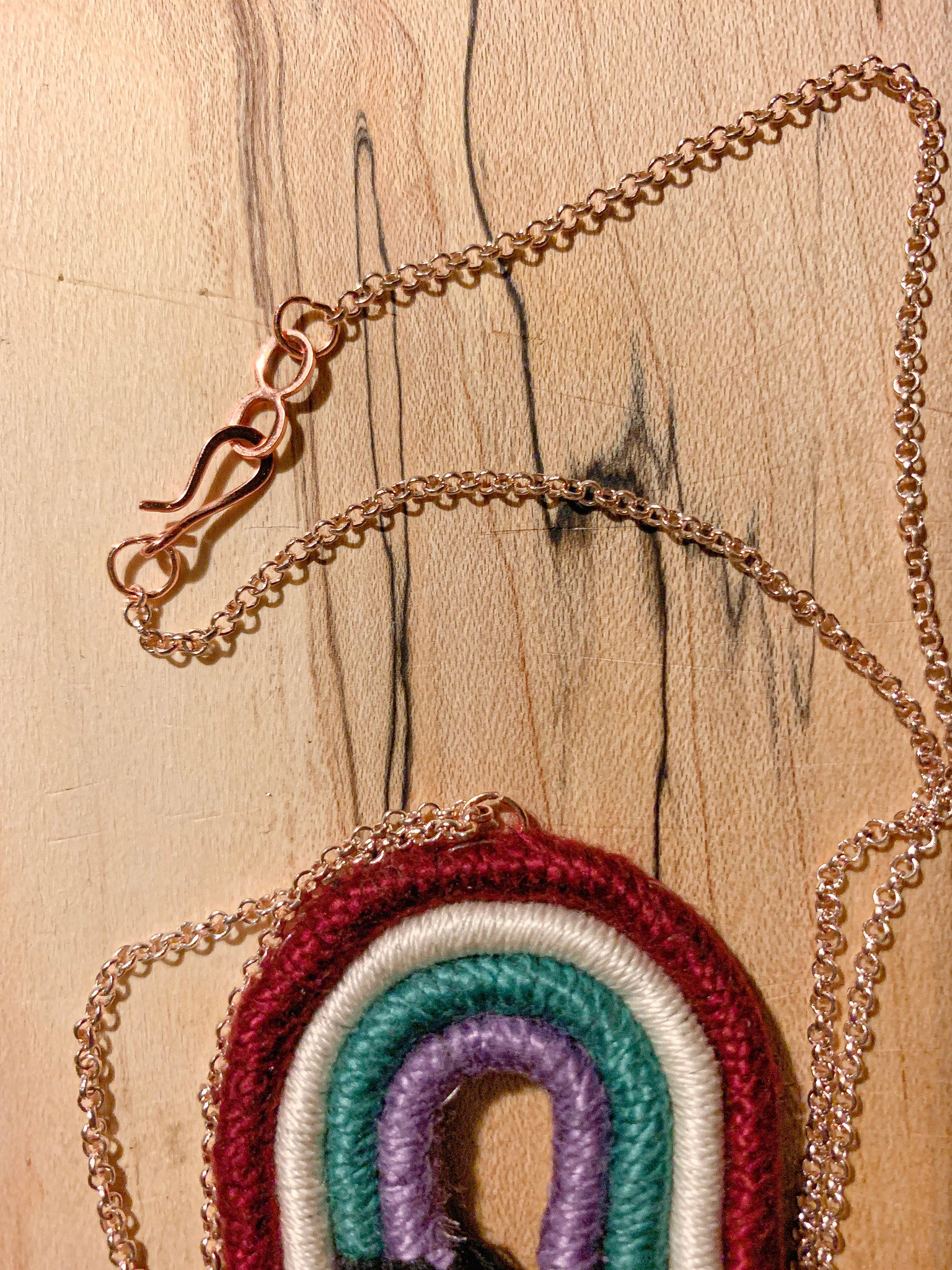 Dark Side of the Rainbow | Macramé Necklace
