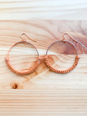 THAT'S A WRAP | Hoop Earrings, Rose Gold