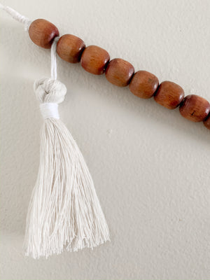 EVIE | Wood + Cotton Macramé Garland, Mustard