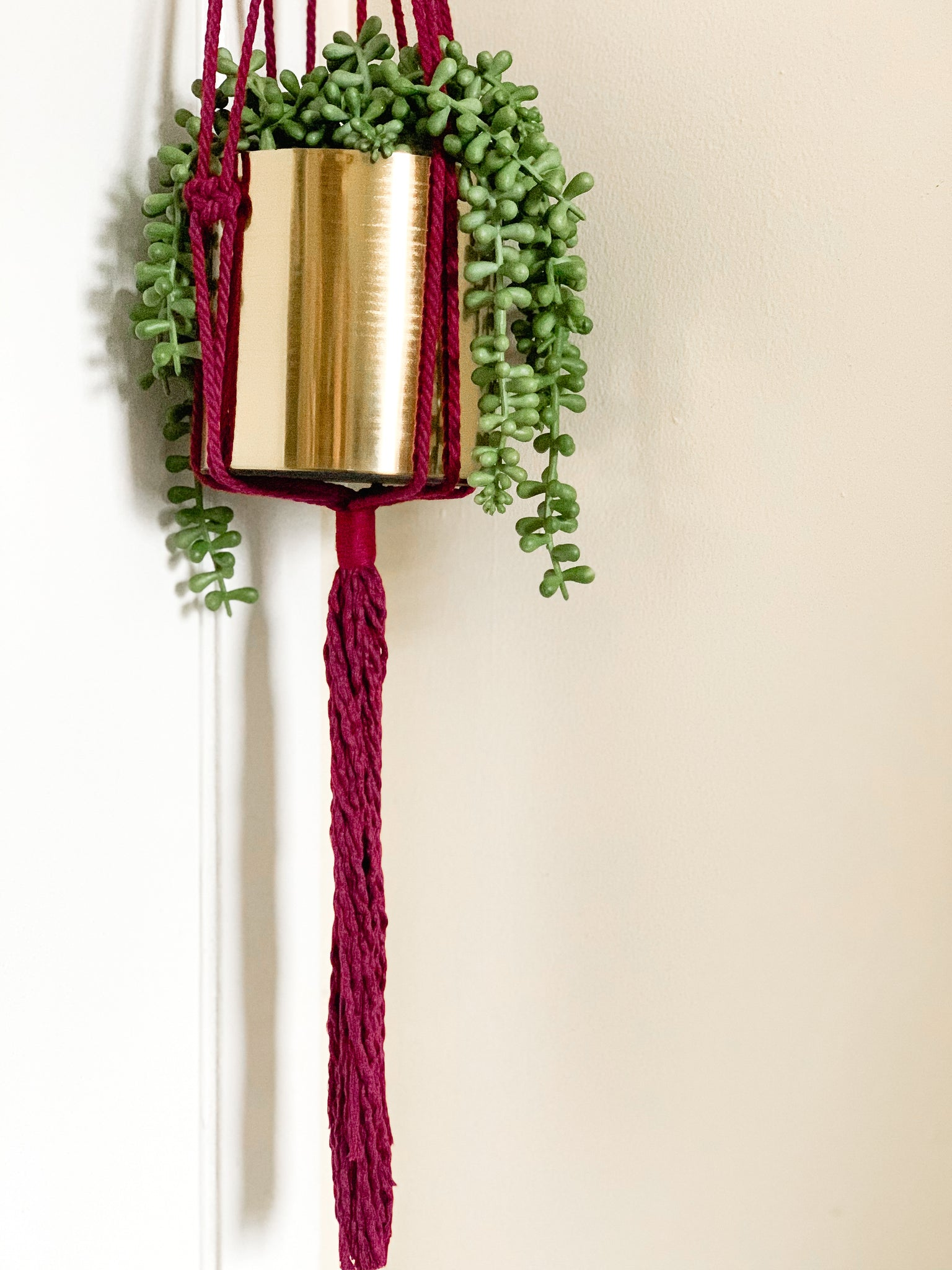 ASHER | Copper + Cotton Macramé Plant Hanger