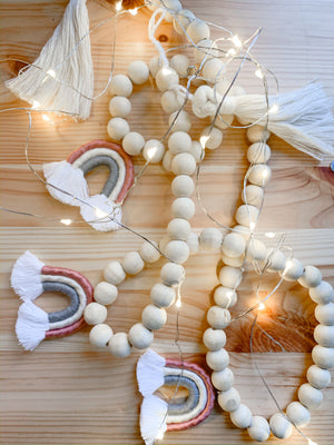AVA | Wood + Cotton Macramé Garland