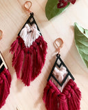 LARK | Macramé Wood & Cotton Earrings