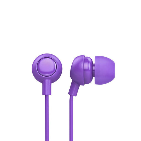 Royal purple earbuds
