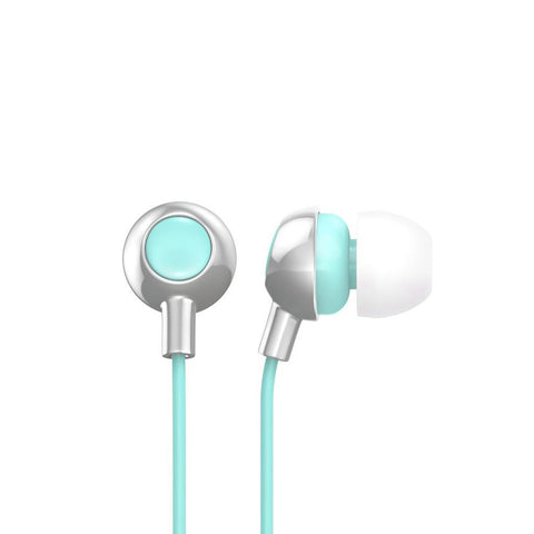 Silver Mint Earbuds