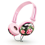 Buy Pastel Black Floral Noise Isolating Headphones at shopankit