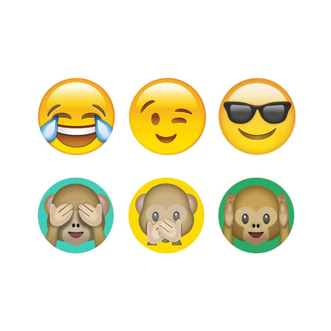 Emoji Monkeys Home Button Stickers