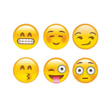 Ankit Emoji Home Button Stickers,Funny Emoji Styled Emoji Home Button Stickers Jumbo Pack