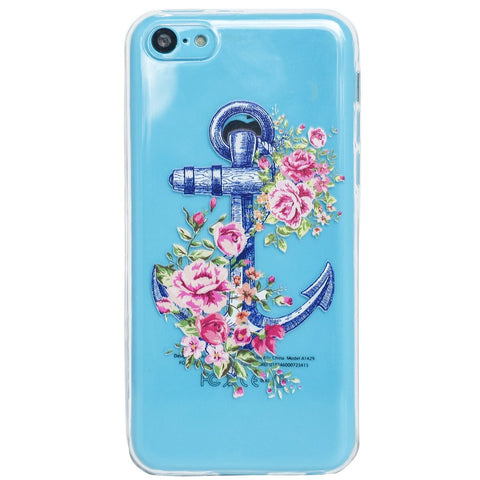 Clear Floral Anchor iPhone 5c Case