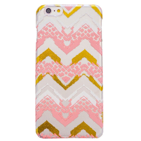 Peach Chevron iPhone 6 Plus Case
